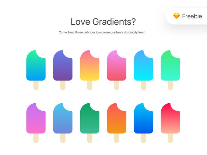 Sketch Gradients    Icons by uiuxparag freebie