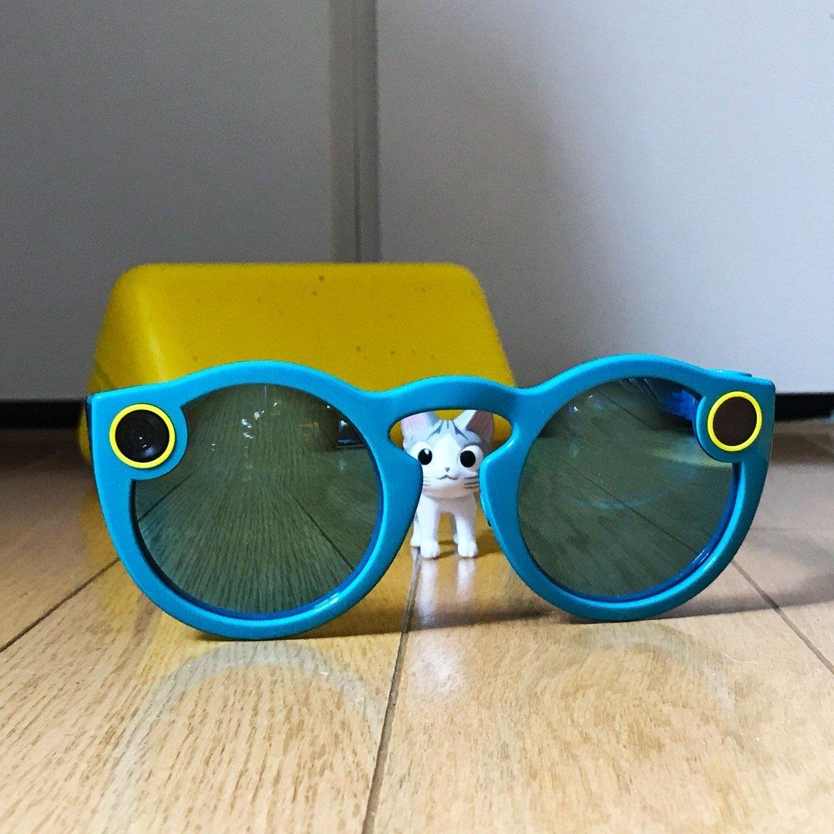 ちーかっこいいれすか?この #Spectacles かけうとパシパシどーがが さつえいできちゃうんらよ クロいの のヒミ