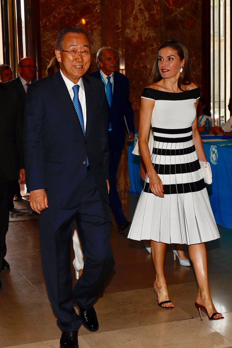 Королева Летисия посетила мероприятия ЮНИСЕФ