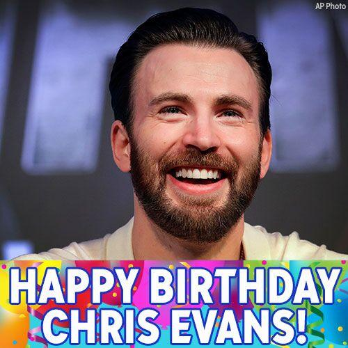 Happy Birthday, Cap! Wishing a super day to Chris Evans, best known for playing Marvel s Captain America.