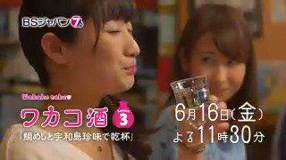 【ワカコ酒 Season3】第11夜「鯛めしと宇和島珍味で乾杯」🍺BSジャパンにて今夜11時30分🌟親友に会う為宇和島を