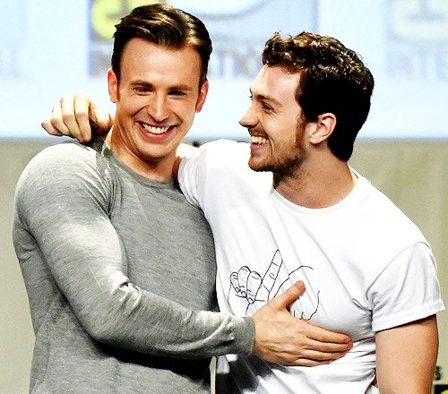 Happy birthday to Chris Evans and Aaron Taylor-Johnson!