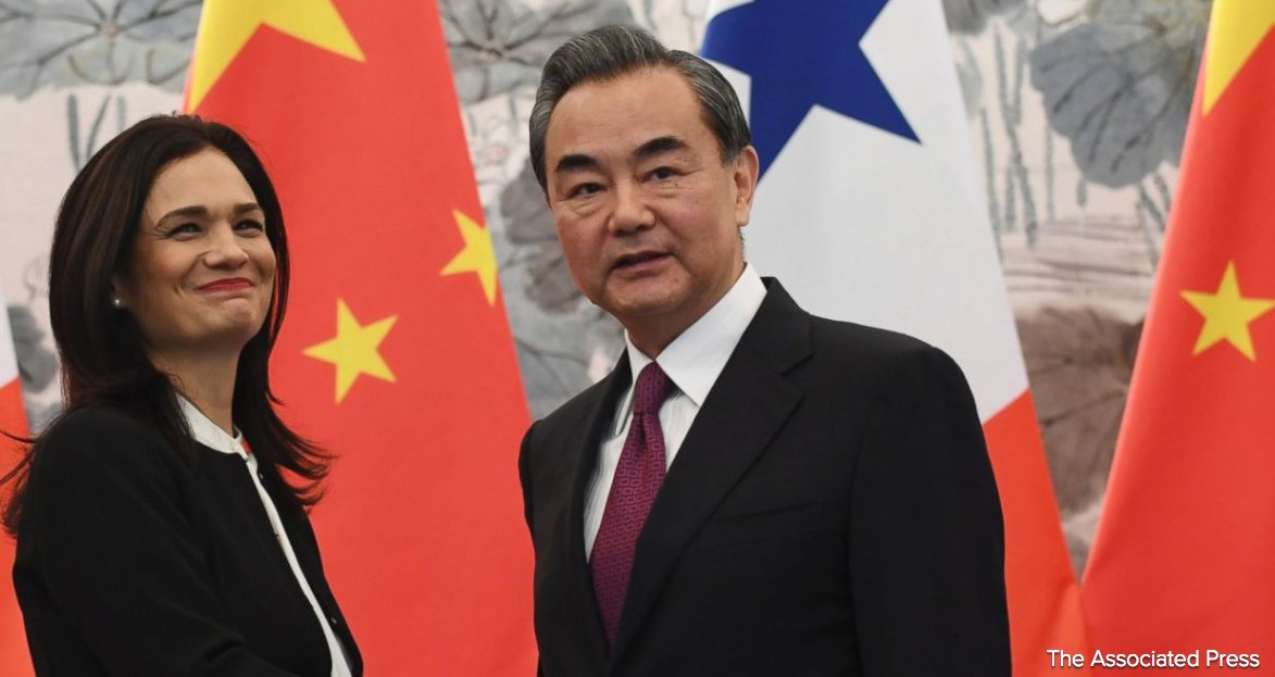 Panama switches diplomatic relations from Taiwan to China, a major victory for Beijing.