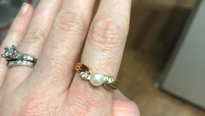 Woman looking for owner of rings found in airport