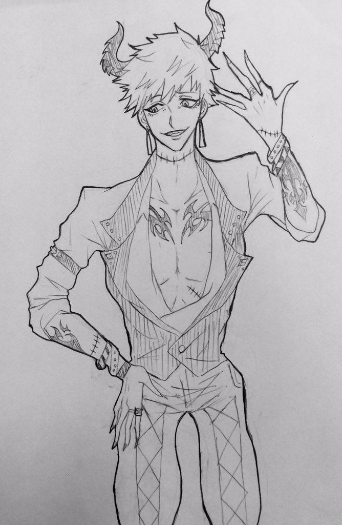 嫉妬 レヴィアタン彼は恐ろしい男だ。他人を妬み体をすり替えている。彼の傷はそのためだ。しかし、一番不思議なのは彼は頭をす
