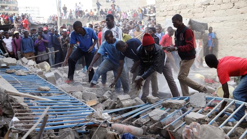 Several missing after seven-storey building collapses in Kenya's Nairobi