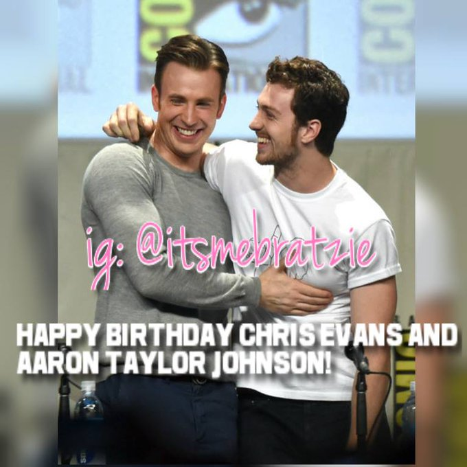 and Aaron Taylor Johnson HAPPY BIRTHDAY TO YOU TWO!!! I LOVE YOU SO MUCH GUYS!!
