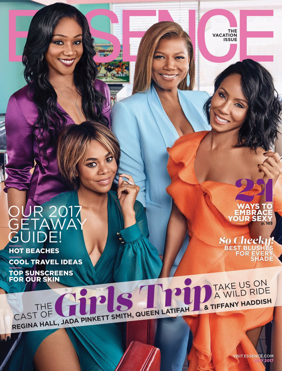 Here are me and my girls on the cover of #Essence!  #GirlsTrip July 21st!  #AWildRide https://t.co/Q1kkhz18TG