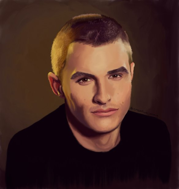 Digital drawing of this amazing actor  happy late birthday, dave franco!