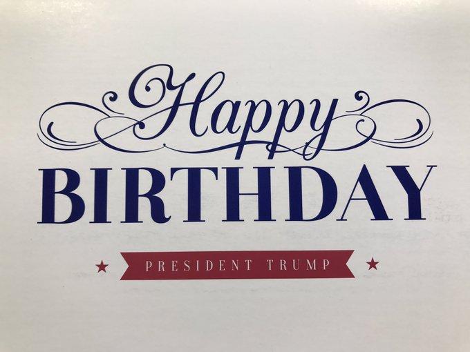 Happy birthday mister President! Donald a 71 ans aujourd\hui 14 juin.