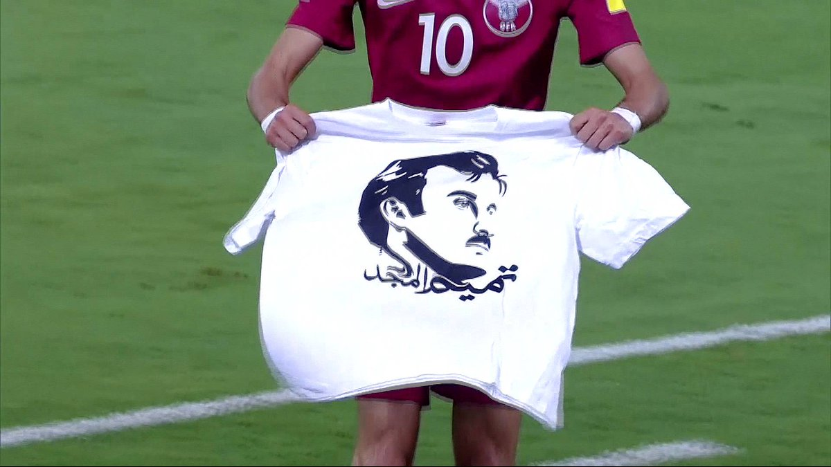 Qatar football team faces FIFA sanction for Emir shirt during qualifier against South Korea
