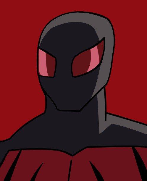 記念としてスカーレット・スパイダーのイラスト、描きました。スカーレット・スパイダーもディスク・ウォーズの続編とフューチ