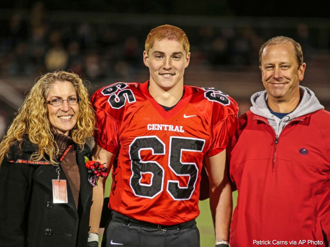 Baseball league renames award in memory of Penn State fraternity pledge who died after fall.