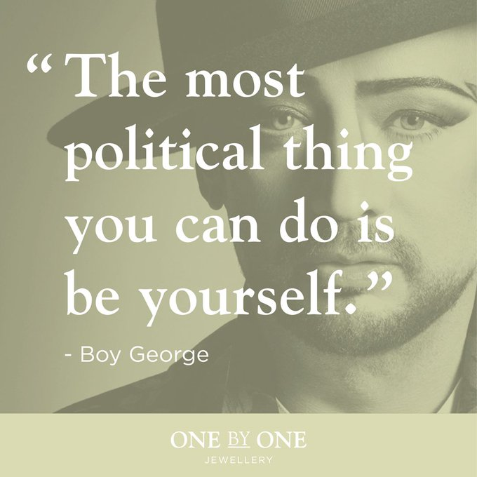 Happy birthday to the legendary Boy George!