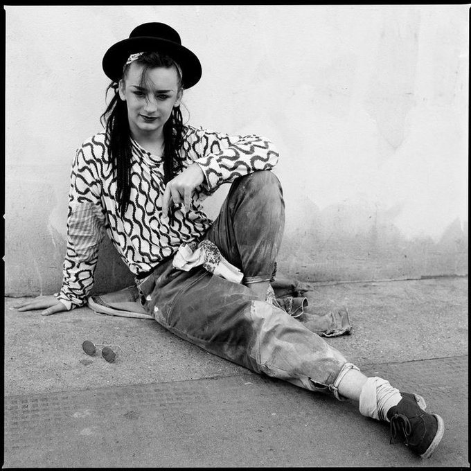 Happy birthday to Boy George. Photo by Janette Beckman, 1981.