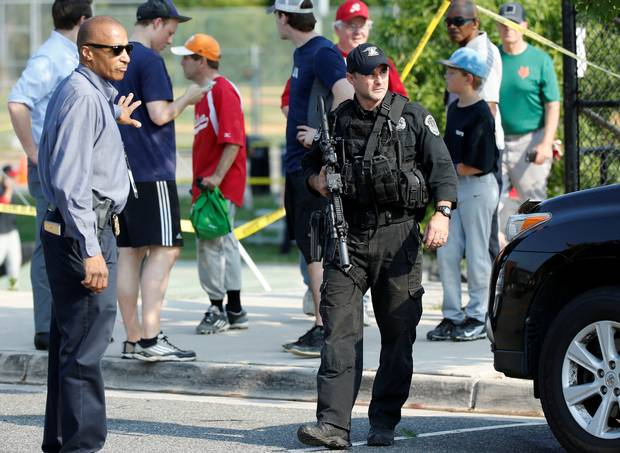 In Photos: Several shot at U.S. congressional baseball team practice