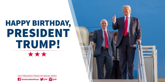 Happy birthday to the 45th President of the United States and my good friend, Donald Trump!