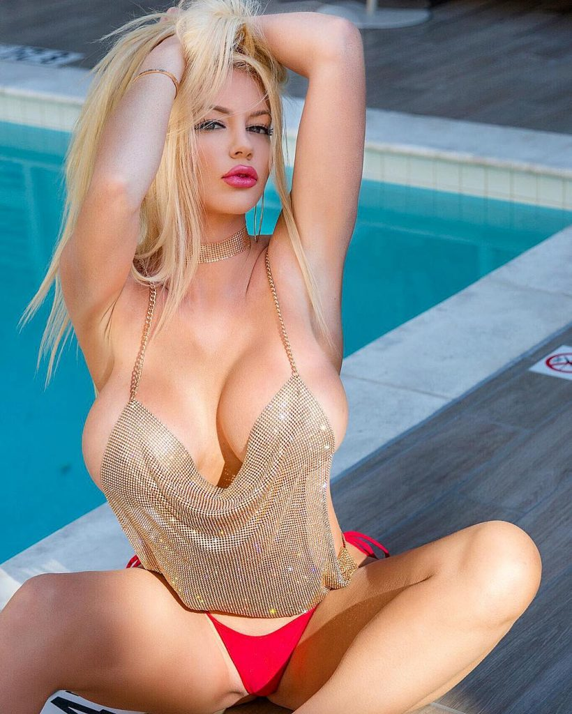 Pretty blonde babe Nicolette Shea revealing her gorgeous curves  517870