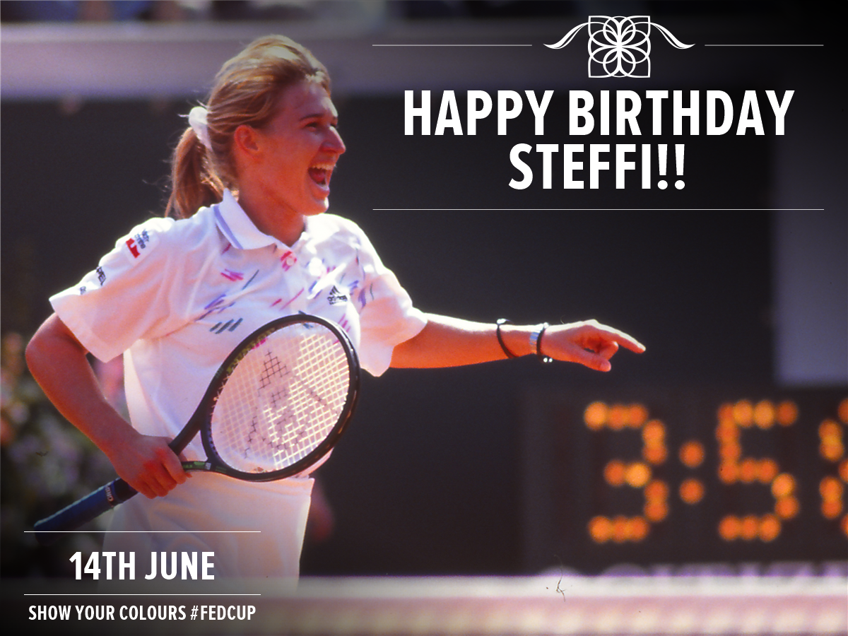 Happy Birthday to 2-time champion Steffi Graf! Steffi helped Germany to the title in 1987 and 1992!