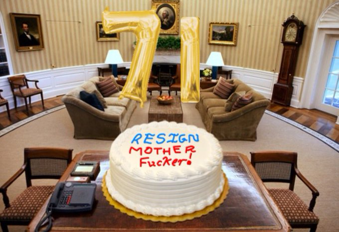 Happy Birthday Donald Trump  Here\s your cake below