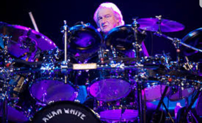 "Happy Birthday to Alan White, long time drummer for ""Yes\"""