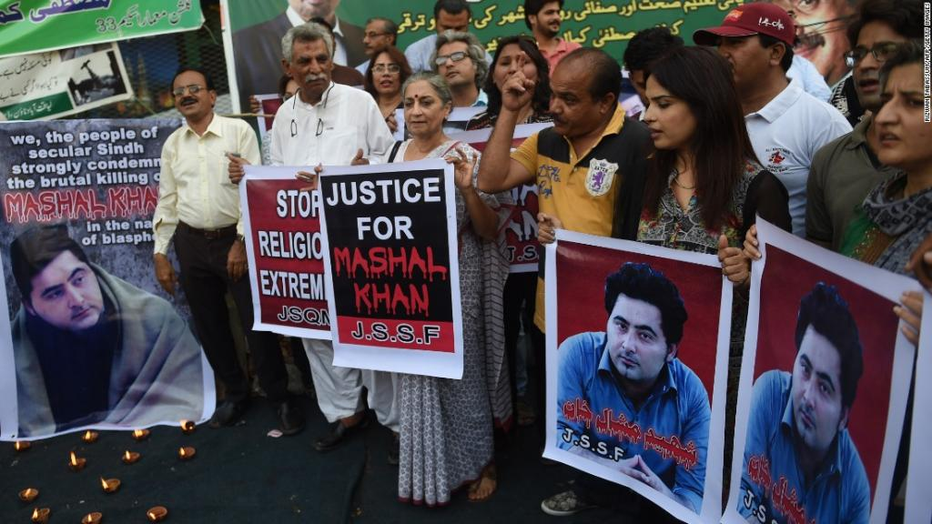 Pakistan has sentenced a young man to death over a series of Facebook posts
