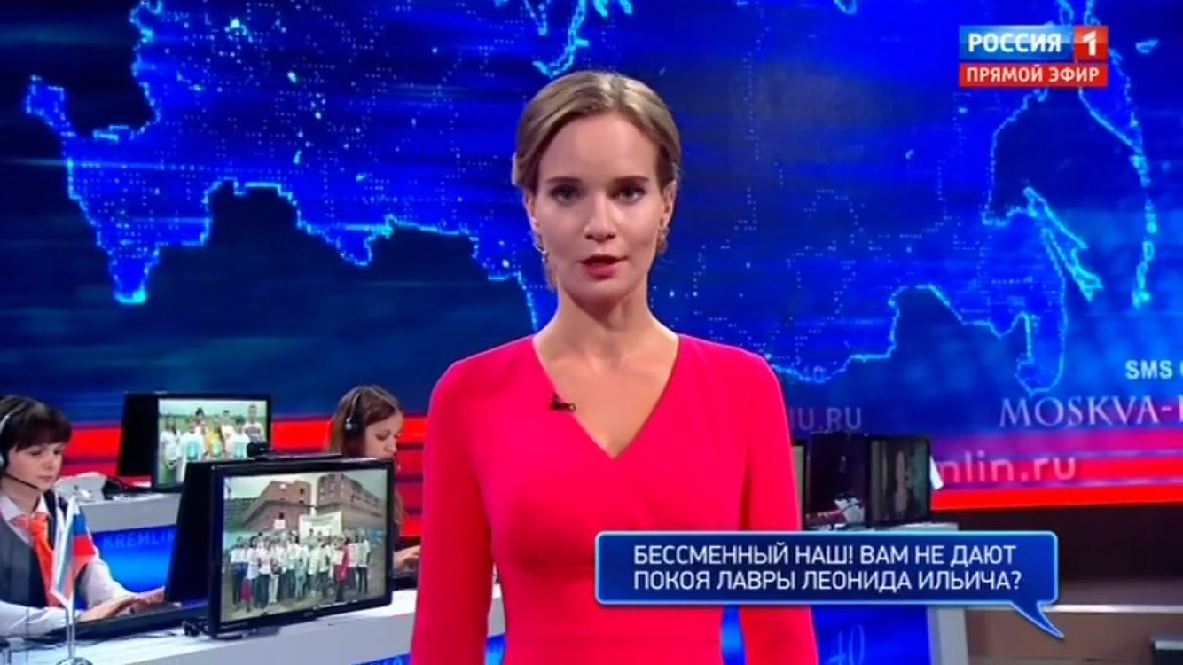 Question from viewer to Putin: 'Our irreplaceable one! Are you jealous of the glory of Leonid Brezhnev?' https://t.co/NBw5aSVvcR