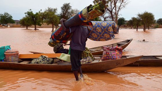 Niger floods: Nine children killed as homes collapse