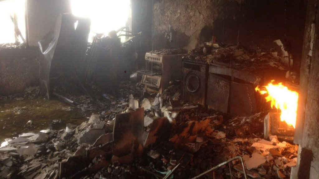 Photos obtained by the BBC show the inside of a flat in #GrenfellTower today  Latest: https://t.co/I2sKYacObZ https://t.co/wDnA2iau3c