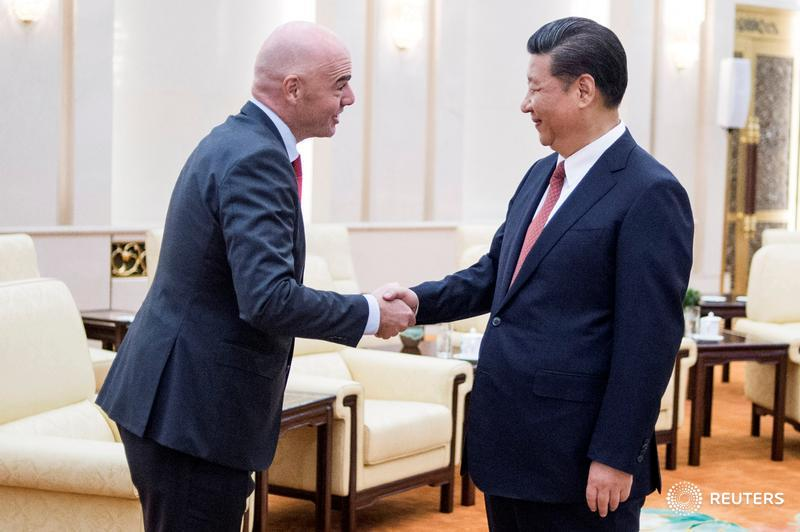 Xi tells Infantino China wants to host World Cup