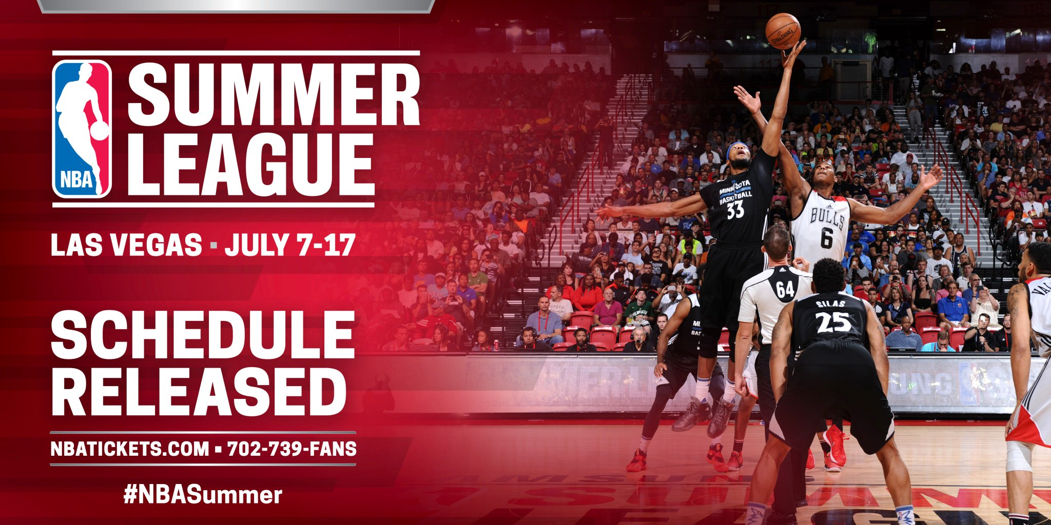 The 11-day, 67 game #NBASummer League schedule has been released: https://t.co/PQxhyatnaK https://t.co/jw8dHiTJC9