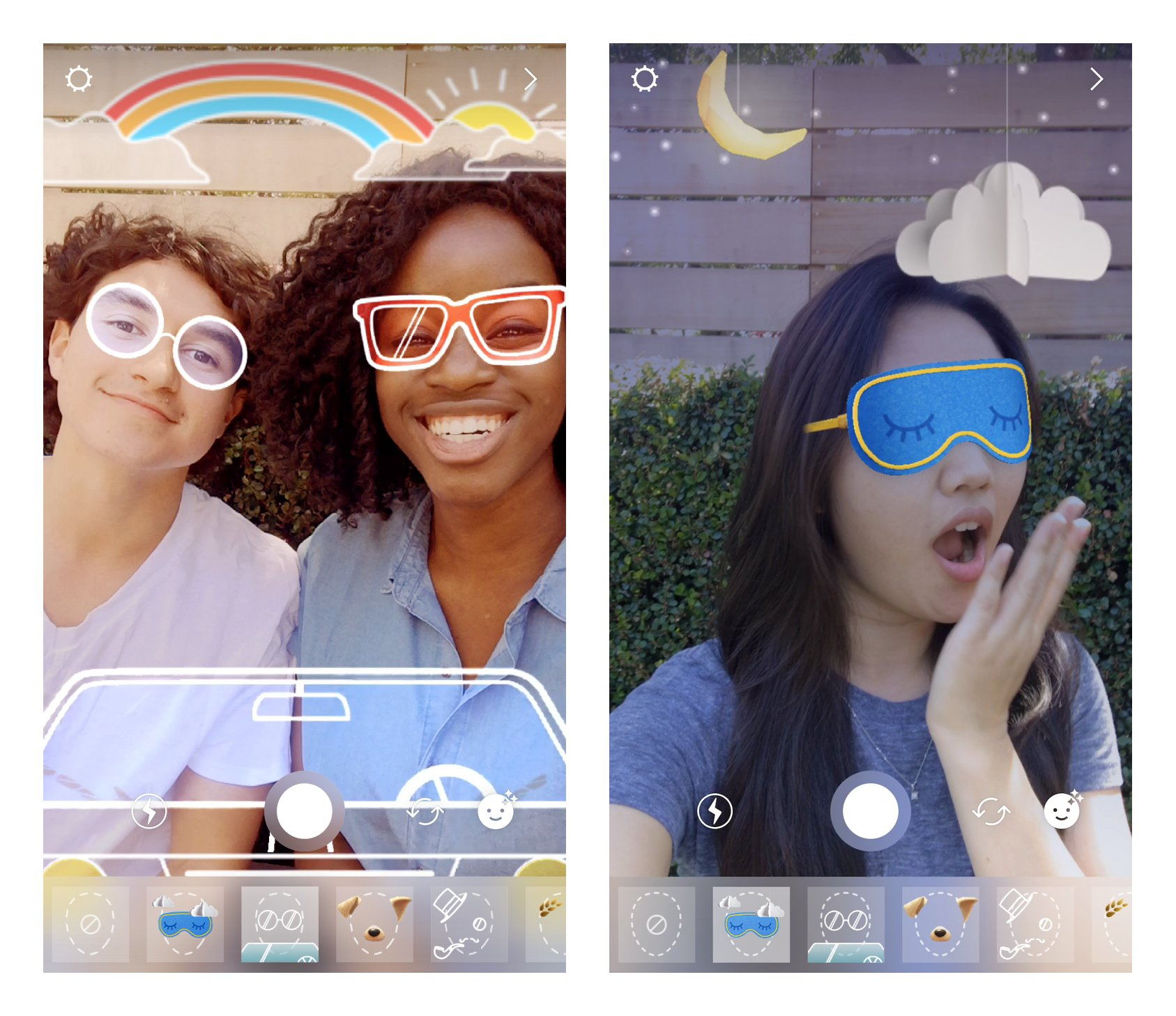 New face filters alert! Bring along a friend for the road trip filter �� or try on a sleep mask �� https://t.co/L52LYCBXoo