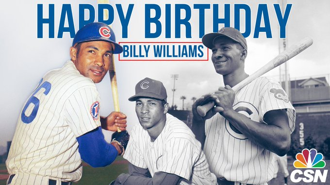 "Happy Birthday to 1987 inductee and all-time great, ""Sweet Swingin\"" Billy Williams."