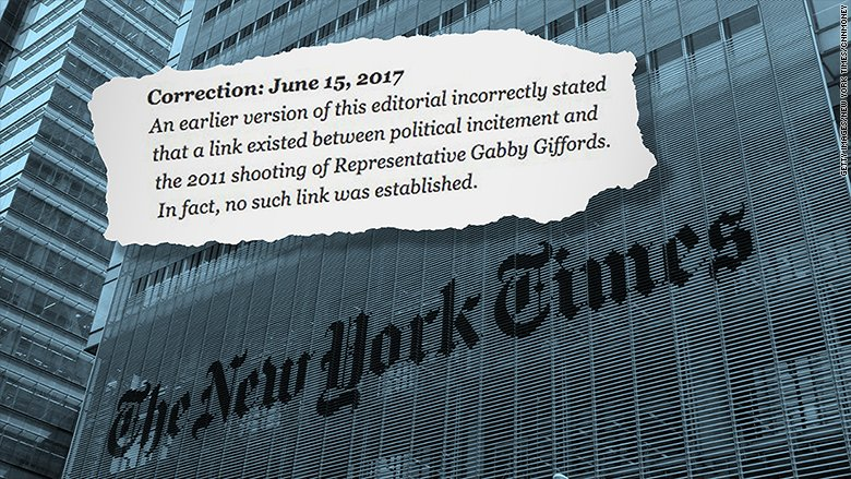 'We're sorry': New York Times issues correction to gun control editorial after controversy