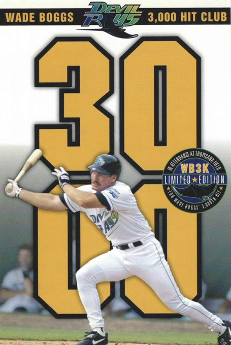 to being at The Trop the day Wade Boggs got his 3,000th hit. Happy Birthday