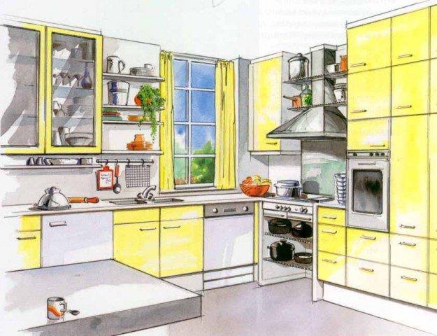 Кухни 6 кв.м угловая дизайн