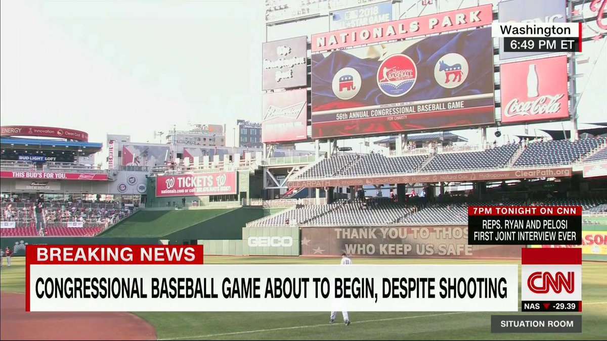 The Congressional Baseball Game will begin soon. Watch CNN and @CNNgo: