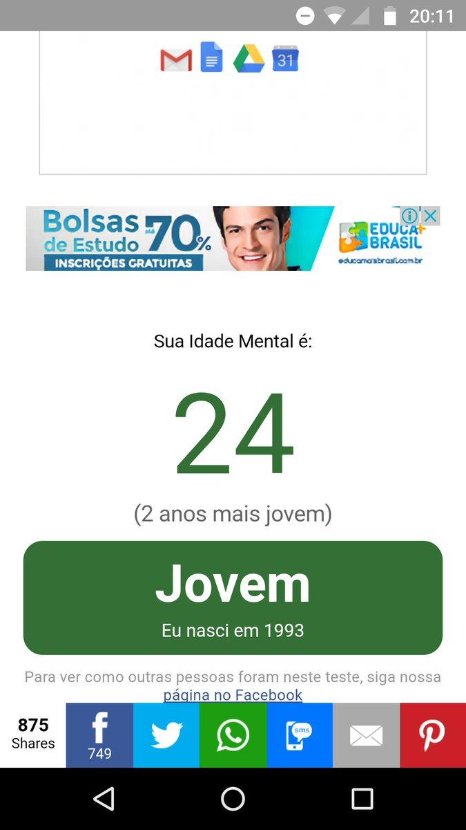 #TesteDeIdadeMental