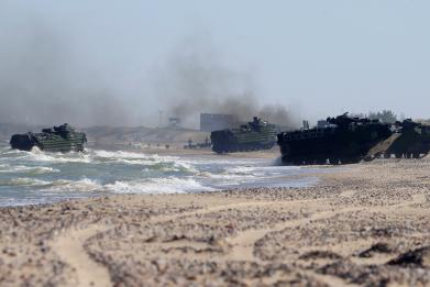 U.S.-NATO drills near end in Baltics, but Russia has huge war games planned