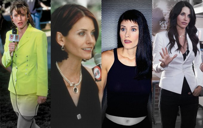 The evolution of Gale Weathers ...  HL wishes a VERY Happy Birthday to Courteney Cox. (Martyn)