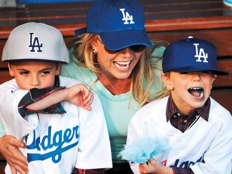 Britney Spears's ex husband co-parents sons
