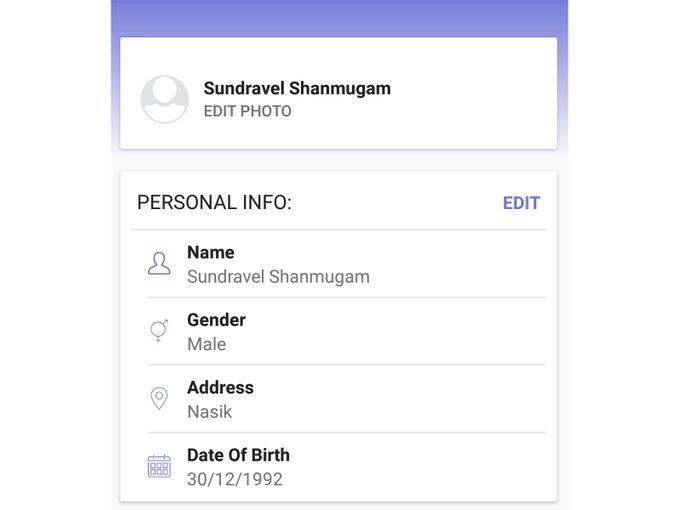 Profile UI   Ui kit by sundravel shanmugam freebie