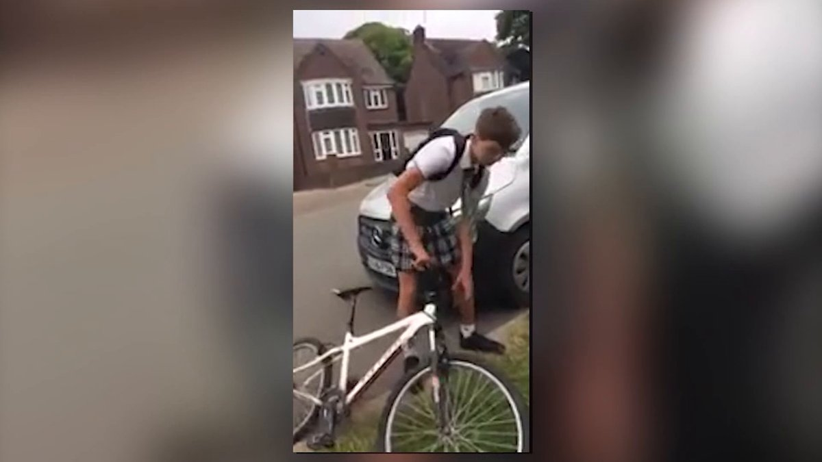 British schoolboys don skirts to protest shorts ban in heat wave