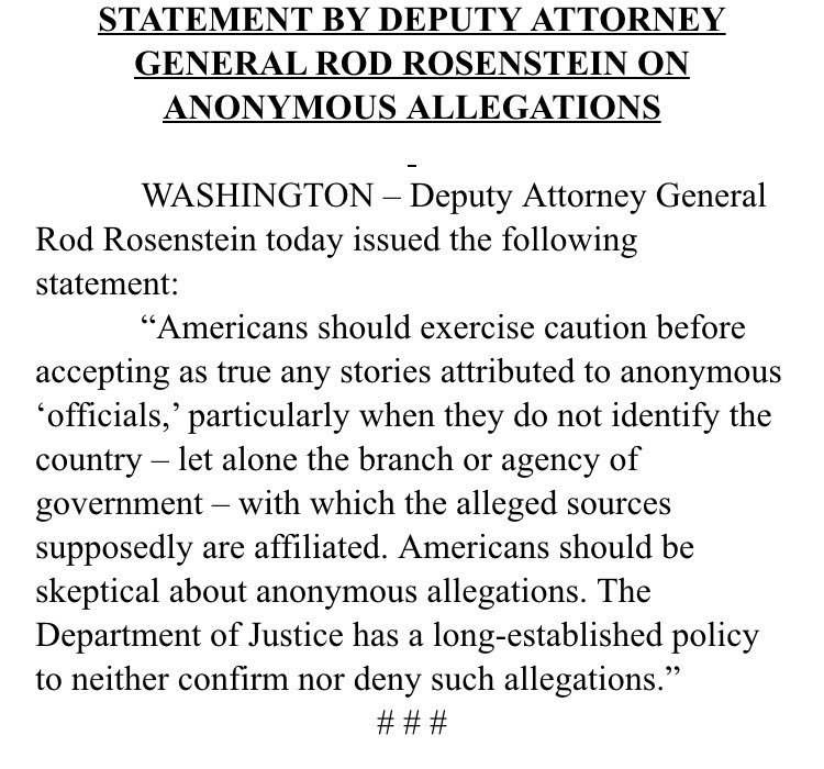 This message brought to you by Deputy Attorney General Rod Rosenstein. �� https://t.co/wqXxABlb27