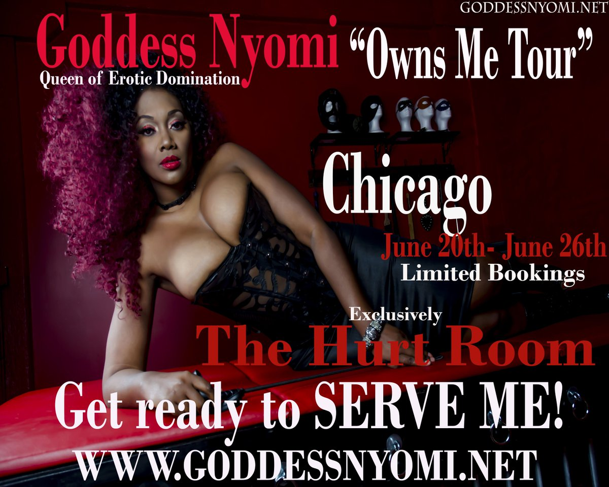 CHICAGO!!! I'm Back at the Dominating! June 20th -26th! Limited Bookings!  Pre book now