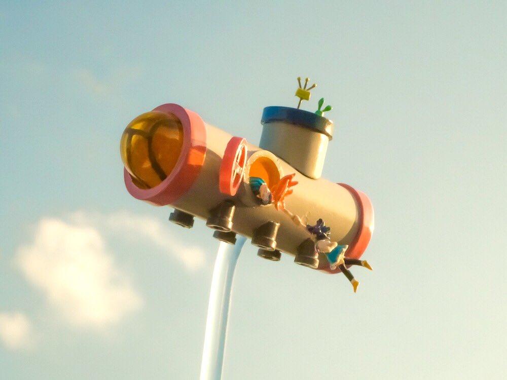 7話の土管宇宙船できました大きさは5センチくらい#フリフラ_アニメ#フリフラ_フィギュア部