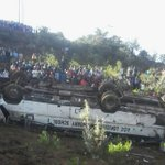 Three dead after 66-seater school bus overturns in Kabarnet