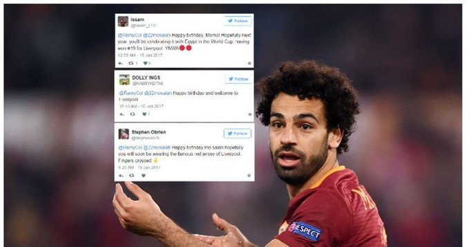 Liverpool fans wish Mohamed Salah a happy birthday