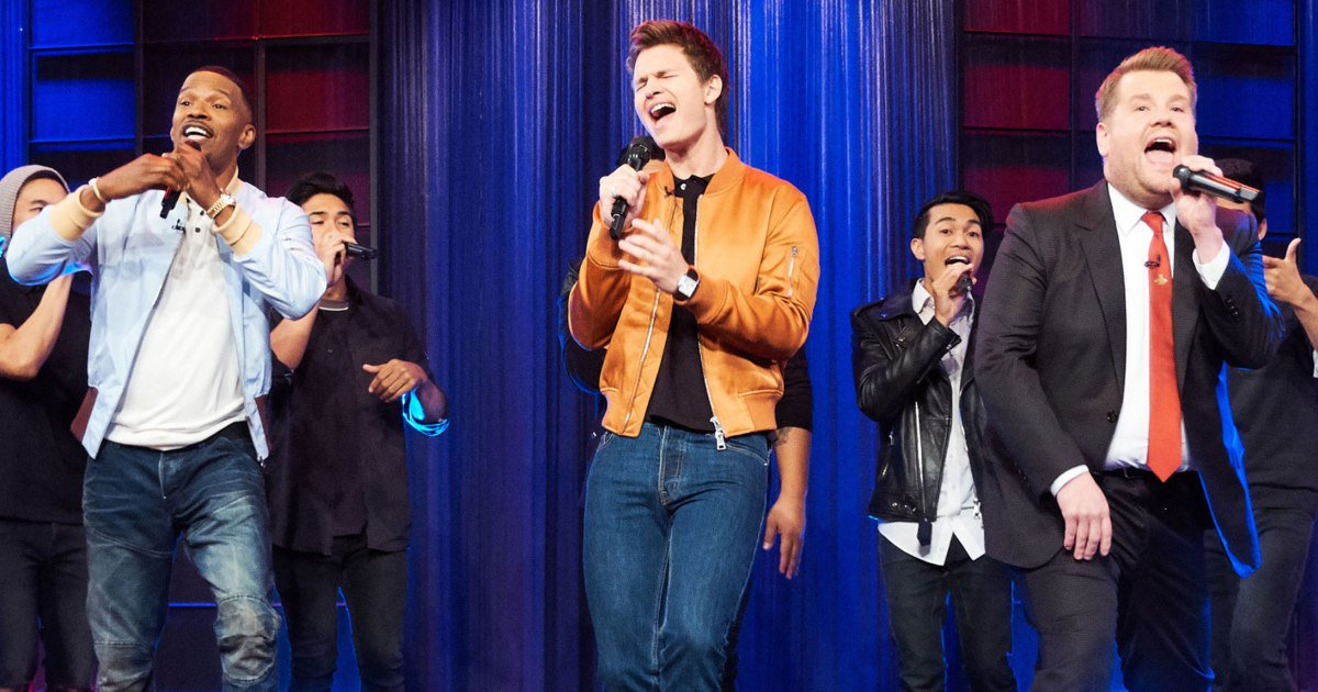 Jamie Foxx and Ansel Elgort belt 'Ain't No Mountain High Enough' with @JKCorden: