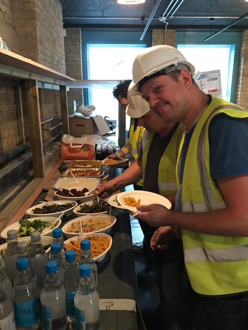 Keeping the builders at our new #bankside restaurant fed and happy! Not long until we open! #vegetarian